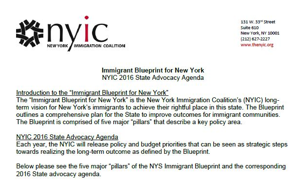 NYIC 2016 State Policy & Budget Priorities