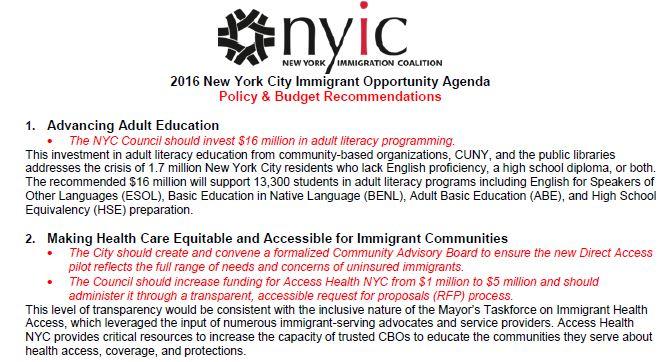City Legislative and Policy Priorities 2016