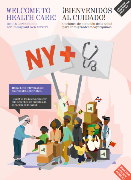"""""""Welcome to Healthcare"""" Poster for Immigrants in NY State"""